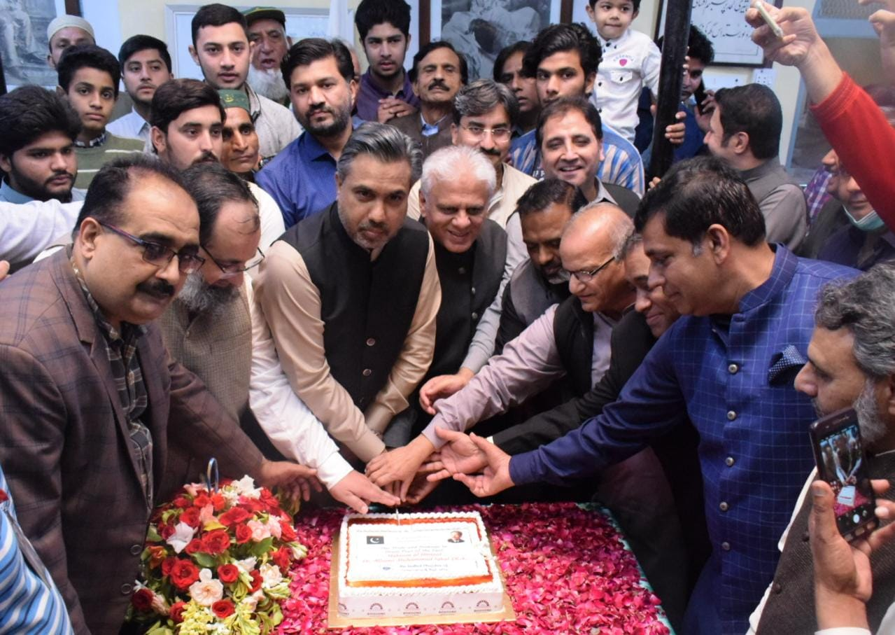 Mr Qaiser Iqbal Baryar, President, attended the cake cutting Ceremony as part of Iqbal Day Celebrations on November 09, 2020. Members of Executive Committee were also present.