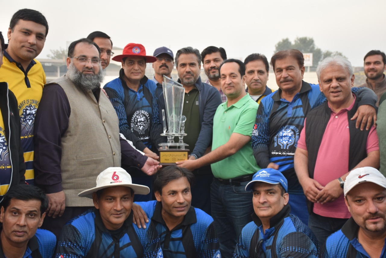Friendly cricket match between Golden Economic Triangle Chambers of Commerce and Industry, SCCI, GTCCI and GCCI, on 8th November, 2020 at Jinnah Stadium Sialkot.