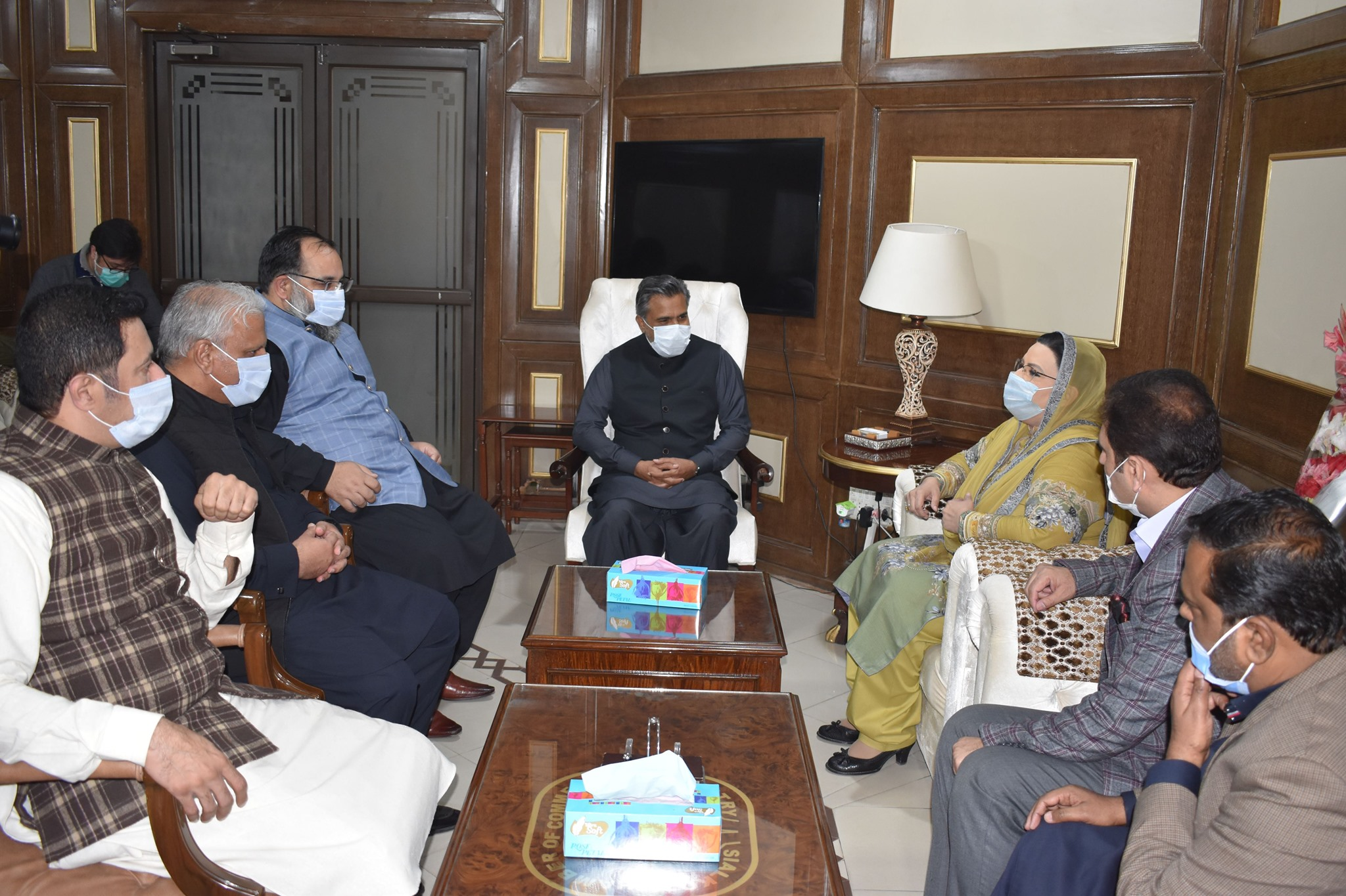 Dr. Firdos Ashiq Awan, Special Assistant to Chief Minister Punjab on Information visited the Sialkot Chamber on December 06, 2020