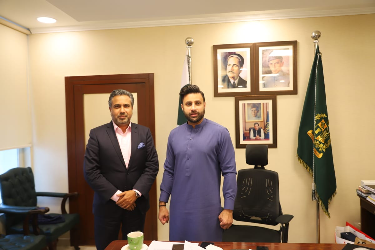 Meeting of Mr. Qaiser Iqbal Baryar, with Mr. Zulfi Bukhari Special Assistant to the PM for Overseas Pakistanis & HRD, on 18th January, 2021