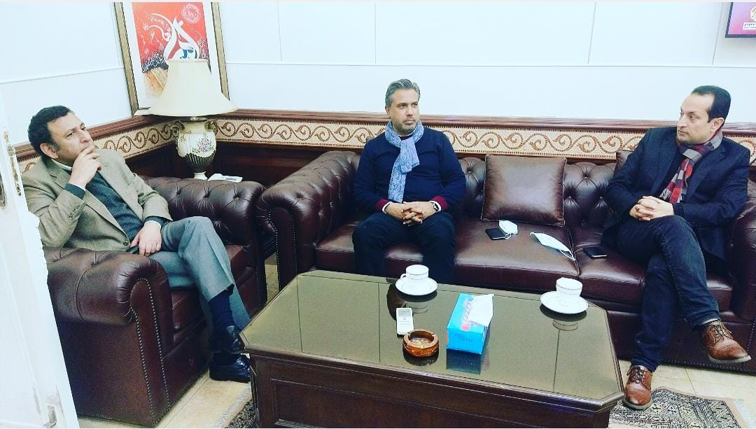 Mr. Qaiser Iqbal Baryar, President Sialkot Chamber met the Provincial Secretary Communication & Works on January 21, 2021. Various matters of mutual interest came into discussion.