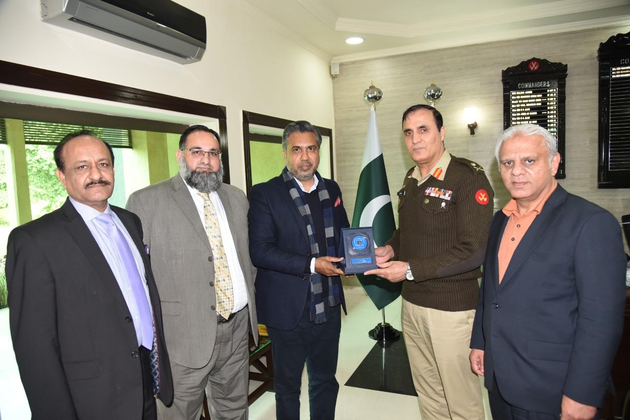Meeting with Major General Muhammad Ishaq Khattak at GOC 15 DIV, Sialkot