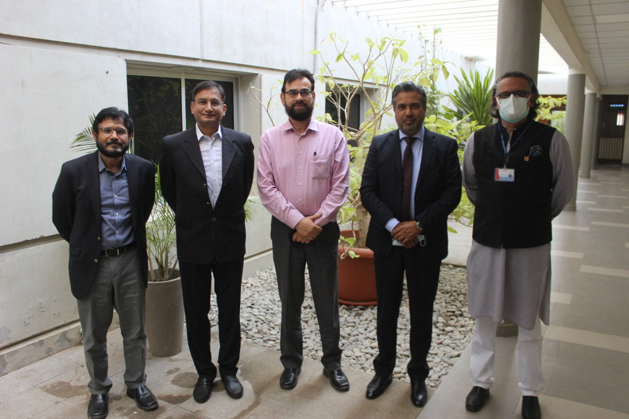 Mr Qaisar Iqbal Baryar, President, called on Mr Abdul Bari, CEO, Indus Hospital Karachi for a meeting to discuss issues of mutual interest on February 02, 2021.