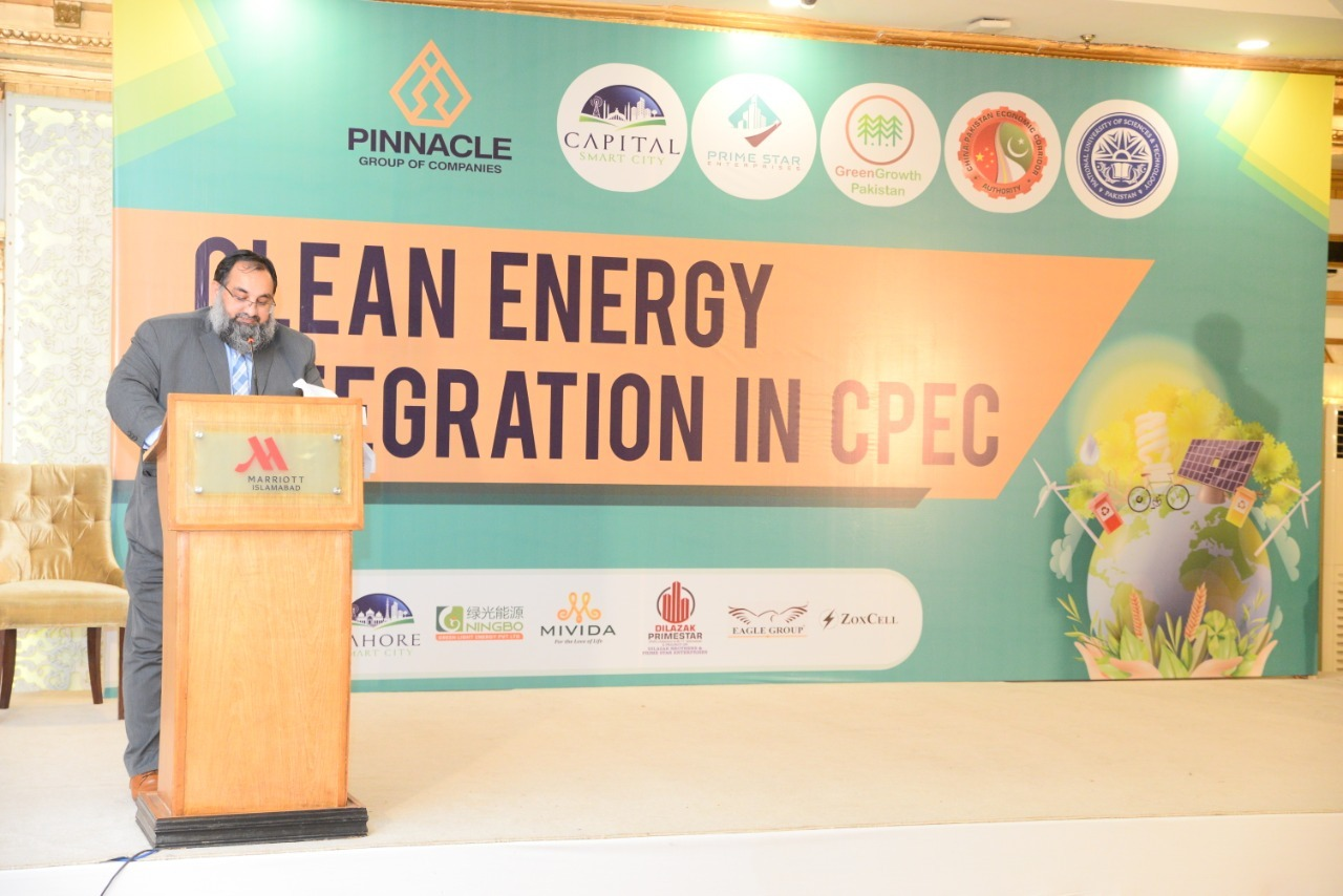"Mr. Khurram Aslam,SVP,SCCI and Mr. Ansar Aziz Puri,VP,SCCI attended a seminar on ""Clean energy integration in CPEC"", organized by Pinnacle Management company in collaboration with Green Growth Pakistan and NUST at Islamabad on February 25,2021."