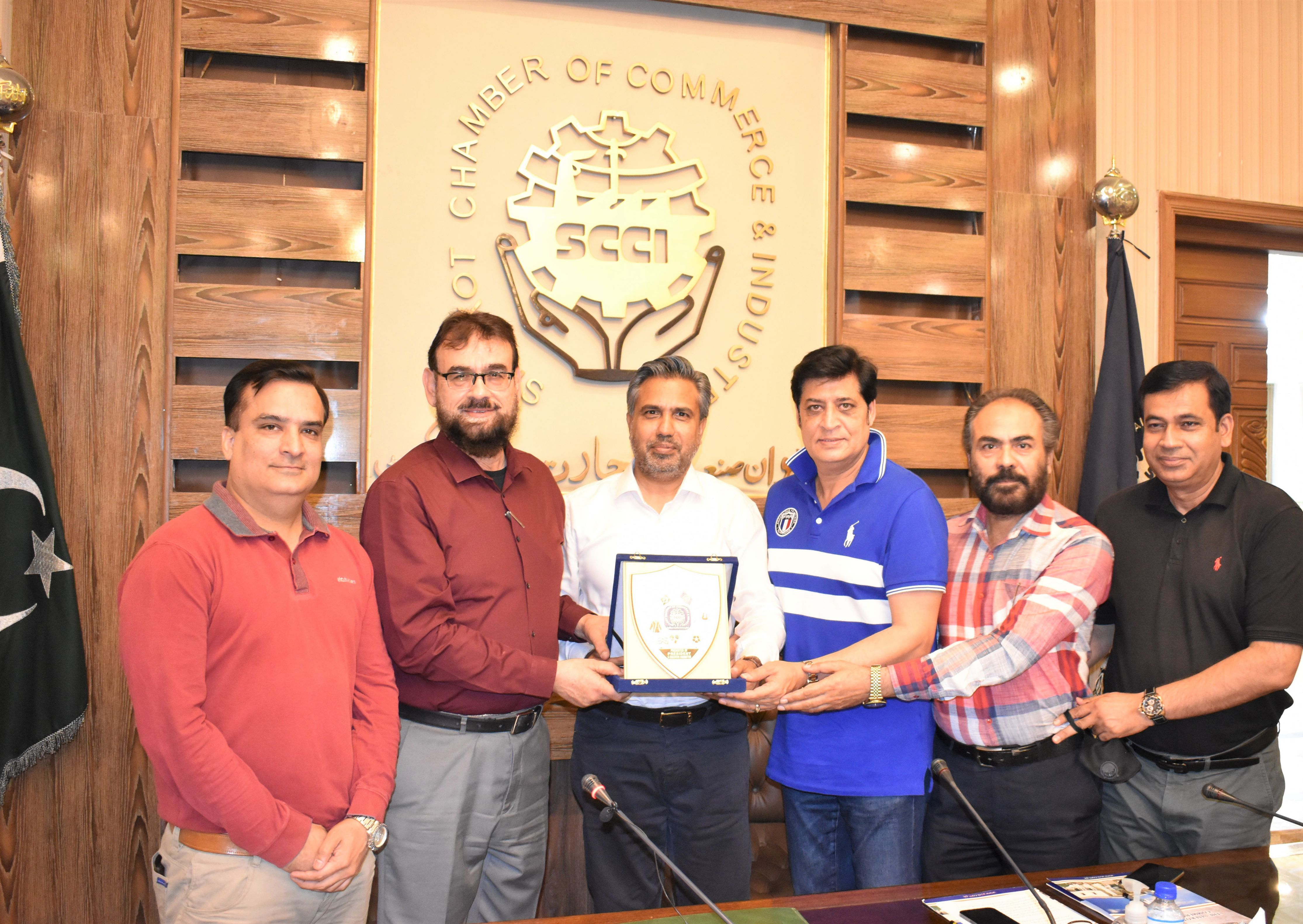 On June 5, 2021, Dr. Abdul Bari Khan, CEO, Indus Hospital and Health Network visited Sialkot Chamber of Commerce and Industry. President Chamber Mr. Qaisar Iqbal Baryar mentioned that a quality Hospital of the stature of Indus Hospital Karachi ought to be established in Sialkot to provide free of cost cutting edge healthcare to the marginalized segment of society.  On this occasion Mr. Qaisar Iqbal Baryar announced 10 acres land as a donation for establishment of aforementioned hospital. Dr. Abdul Bari Khan appreciated the vision of Sialkot Chamber and its members for taking and endorsed the generous donation of Mr. Qaisar Iqbal Baryar and said that a master plan would be formulated considering the phase wise execution of the project.