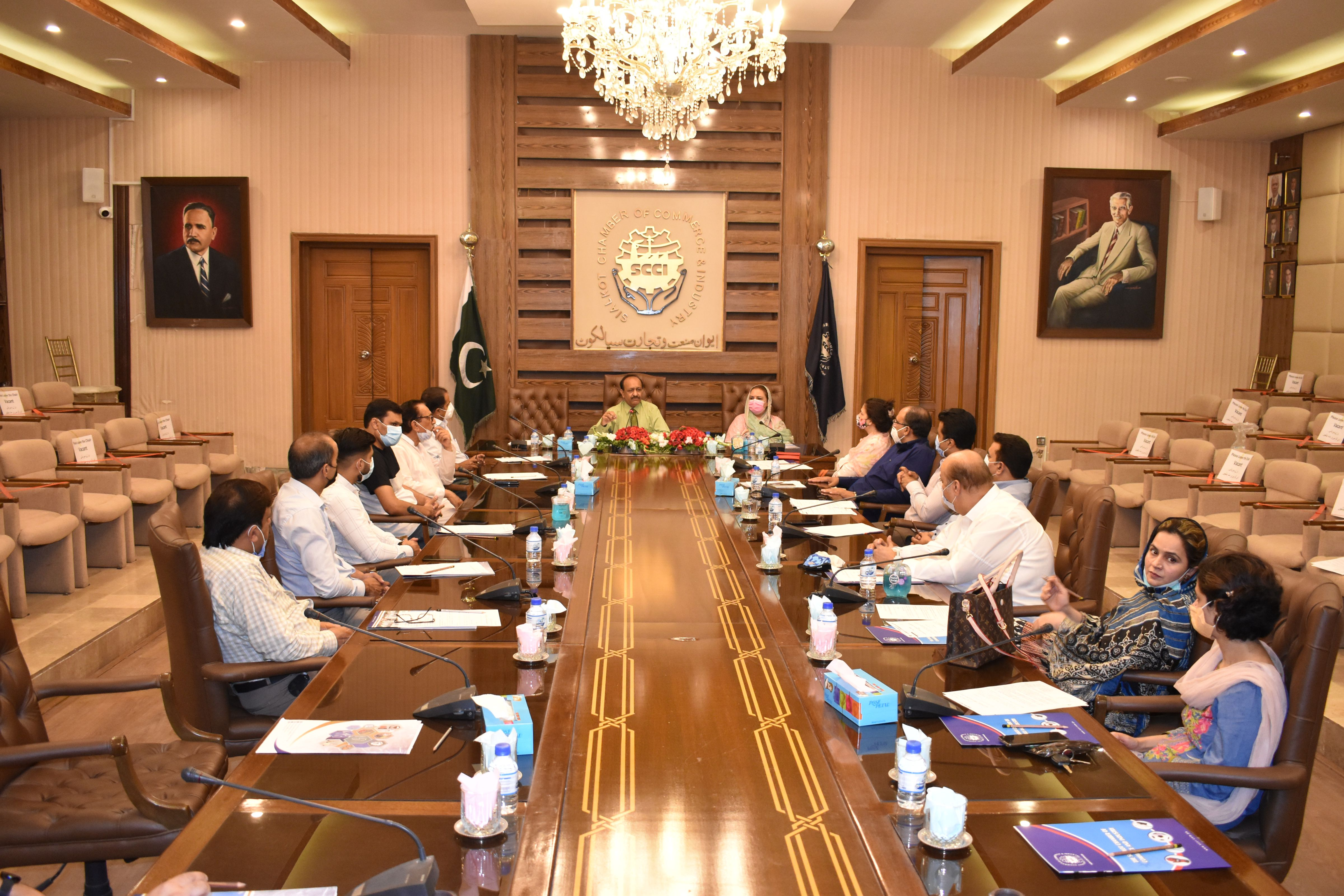 On June 05, 2021, Meeting of Departmental Committee on Garrison and Cantonment Board Affairs was held at SCCI.
