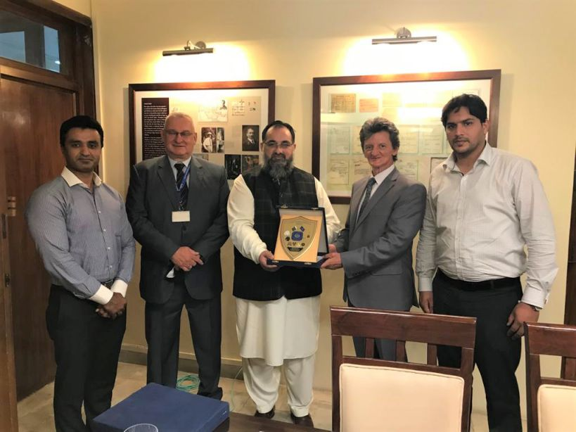 On July 26, 2021, A delegation of Sialkot Chamber of Commerce & Industry led by Mr. Khuram Aslam , Senior Vice President of SCCI visited Embassy of Hungary, Islamabad and had meeting with His Excellency Mr. Bela Fazekas, Ambassador of Hungary to Pakistan. Mr. Khuram Aslam, Senior Vice President, Mr. Asif Manzoor and Mr. Muhammad Idris, Executive Members SCCI were warmly welcomed by H.E. Mr. Bela Fazekas. During the meeting, matters regarding promotion of bilateral trade between Hungary and Pakistan were discussed in detail.