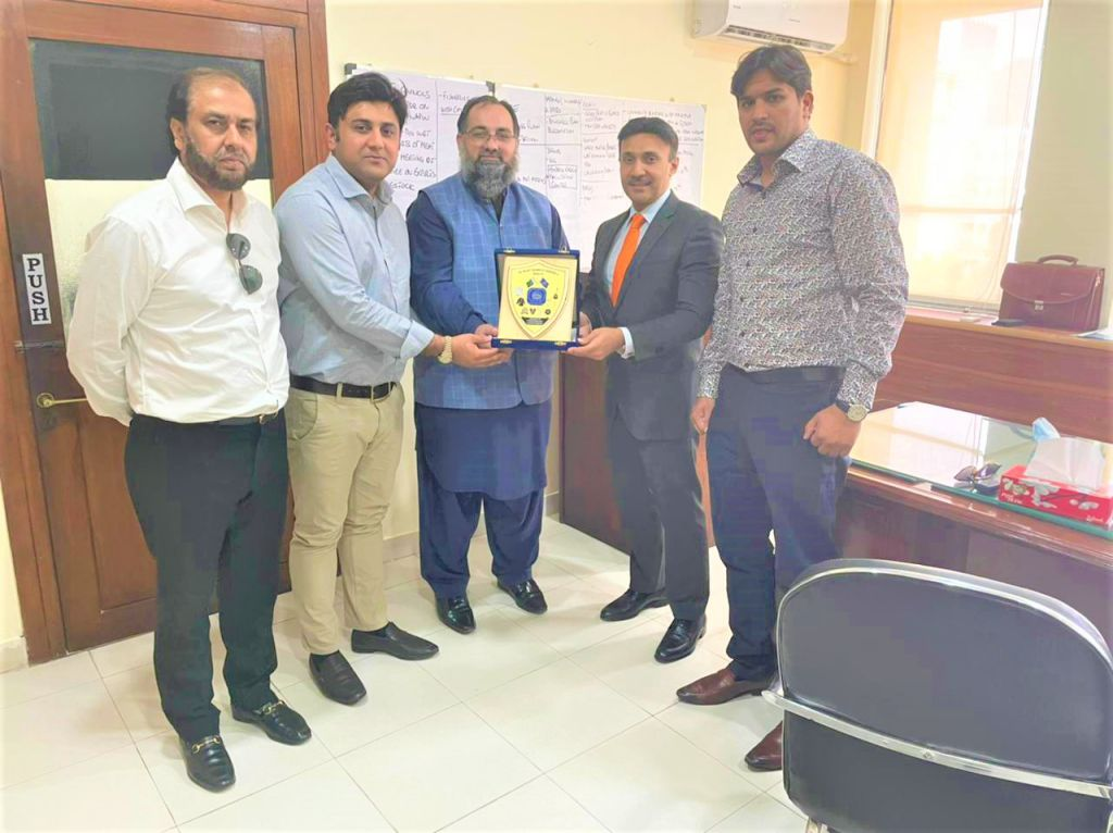 On July 07, 2021, Mr. Khuram Aslam, Senior Vice President, Sialkot Chamber of Commerce and Industry led a delegation of SCCI to have meeting with Mr. Syed Rafeo Bashir Shah, Executive Director General, Ministry of Commerce Islamabad.    The delegation comprised of Mr. Qasim Malik, Sheikh Sohail Zafar, Mr. Muhammad Idris Members of Executive Committee SCCI.   During the meeting, matters regarding attestation of documents from MOFA were mainly discussed.