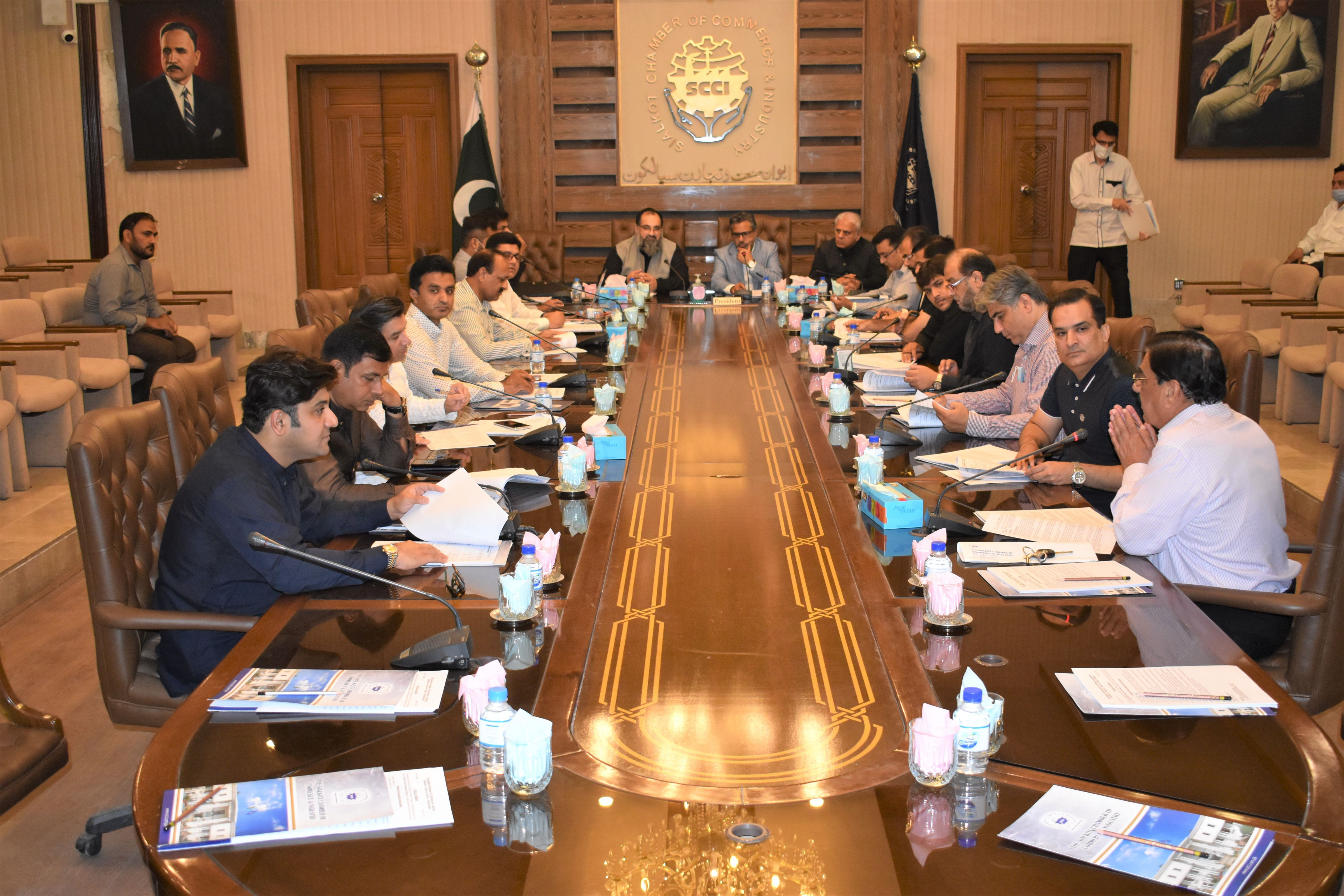 On August 30, 2021, Executive Committee meeting of Sialkot Chamber of Commerce & Industry was held for the month August 2021.