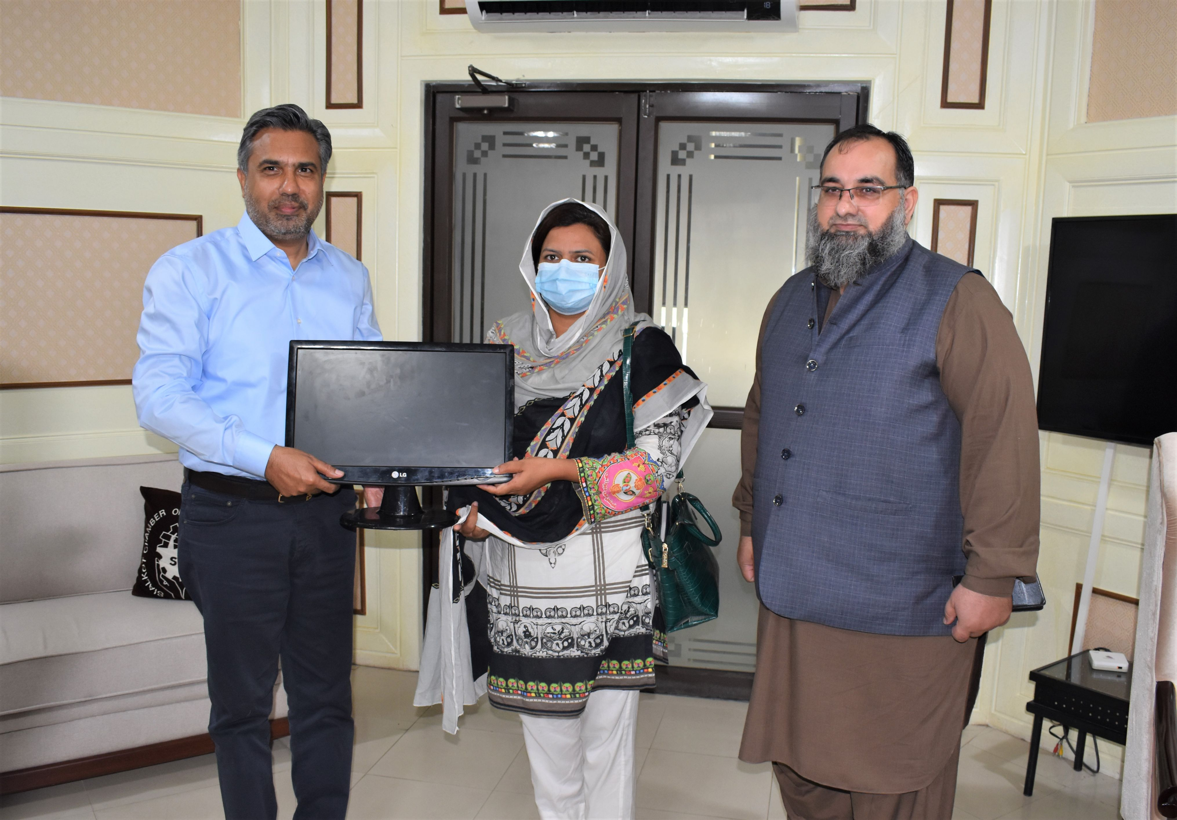 On September 14, 2021, Sialkot Chamber of Commerce & Industry contributed Computer Systems for IT Lab in  Govt. High School, Dait Sialkot.