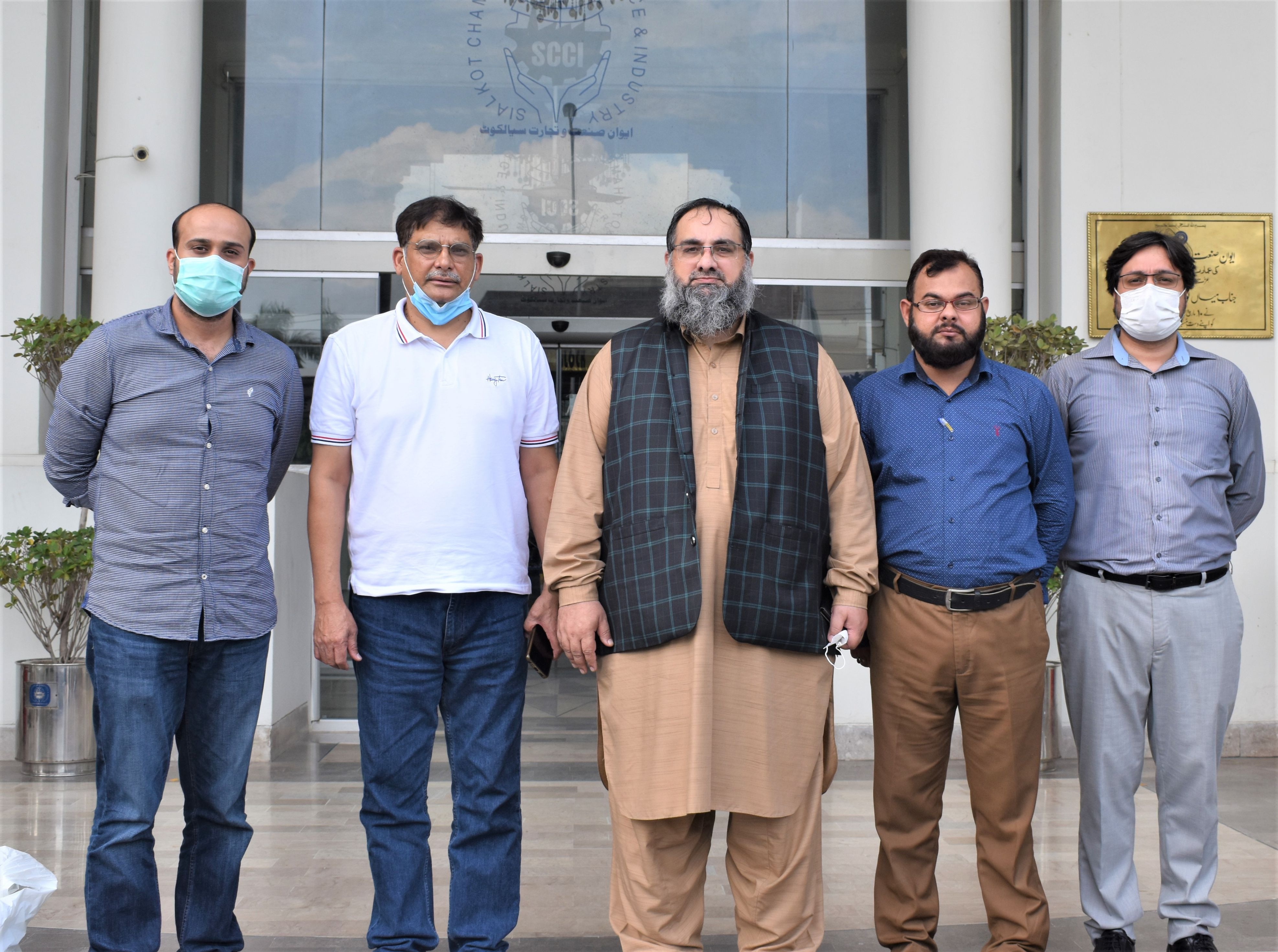 On September 9, 2021, Mr. Khuram Aslam, Senior Vice President and Mr. Ansar Aziz Puri, Vice President, Sialkot Chamber of Commerce & Industry had a meeting with Dr. Afzal Bhalli District Health Officer, Sialkot, to have a discussion on the initiation of a Counter of Booster shots at SCCI. It may be informed that the facility of Booster shots will be available to members that are planning to travel abroad. The health Office Sialkot has informed as per as NCOC guidelines that only those who have taken (1st or 2nd dose) of Chinese Vaccines (1 month elapsed already) can take the booster shot subject to provision of the following documents: 1. PAID CHALLAN (TO PAID WITHIN NBP OF WORTH 1270/- PKR, ENCLOSED).  2. 1 COPY OF CNIC.  3. 1 COPY OF PASSPORT WITH VISA PAGE, IF AVAILABLE.  The interest members who are willing to take booster shots may submit the required documents and fill their details to E-Form of SCCI that will be provided shortly.