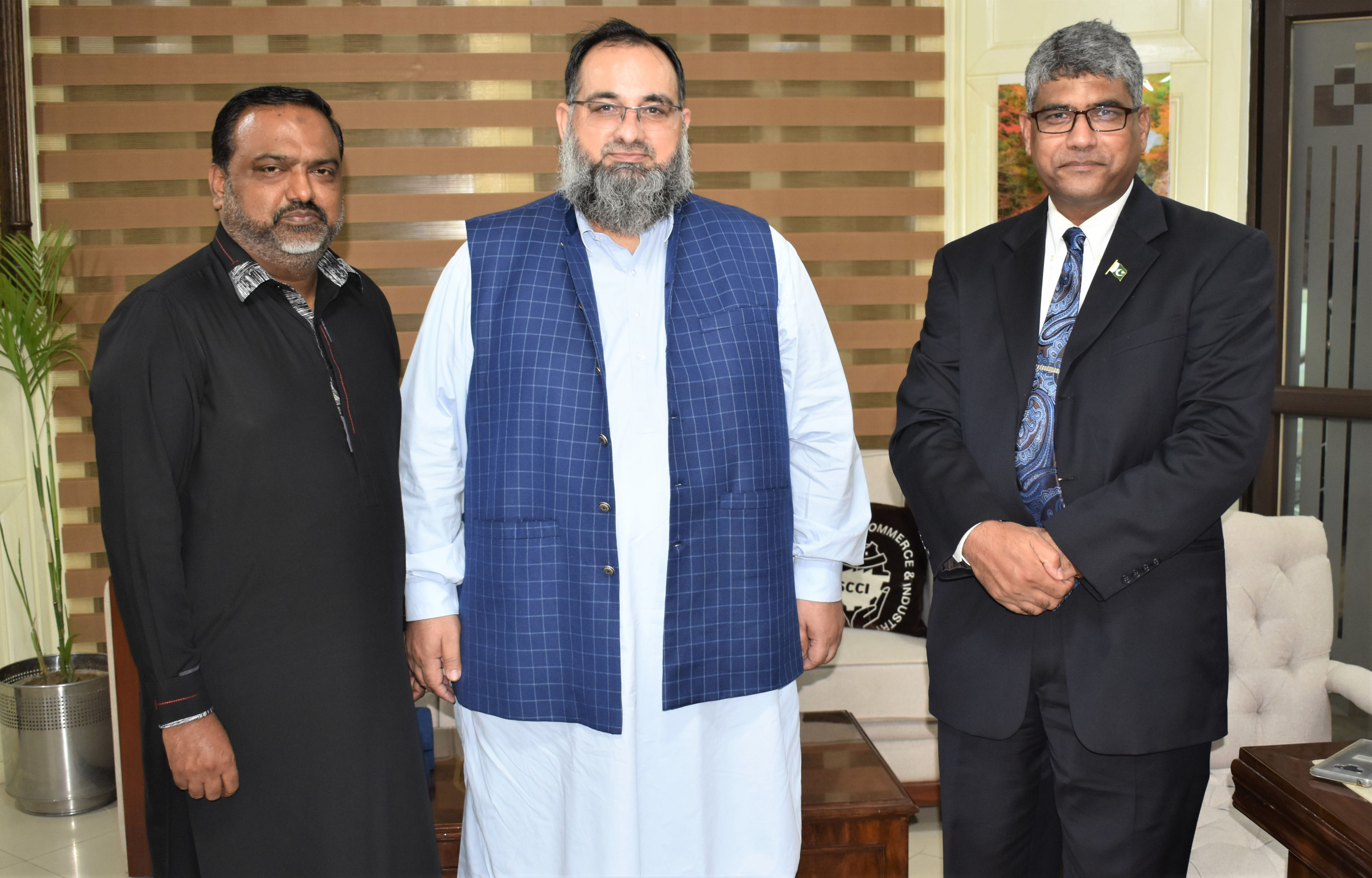 On September 17, 2021, A delegation of Employees' Old-Age Benefits Institution (EOBI) Sialkot visited Sialkot Chamber of Commerce & Industry and had meeting with Mr. Khuram Aslam, Senior Vice President, SCCI to discuss matters of mutual interest.