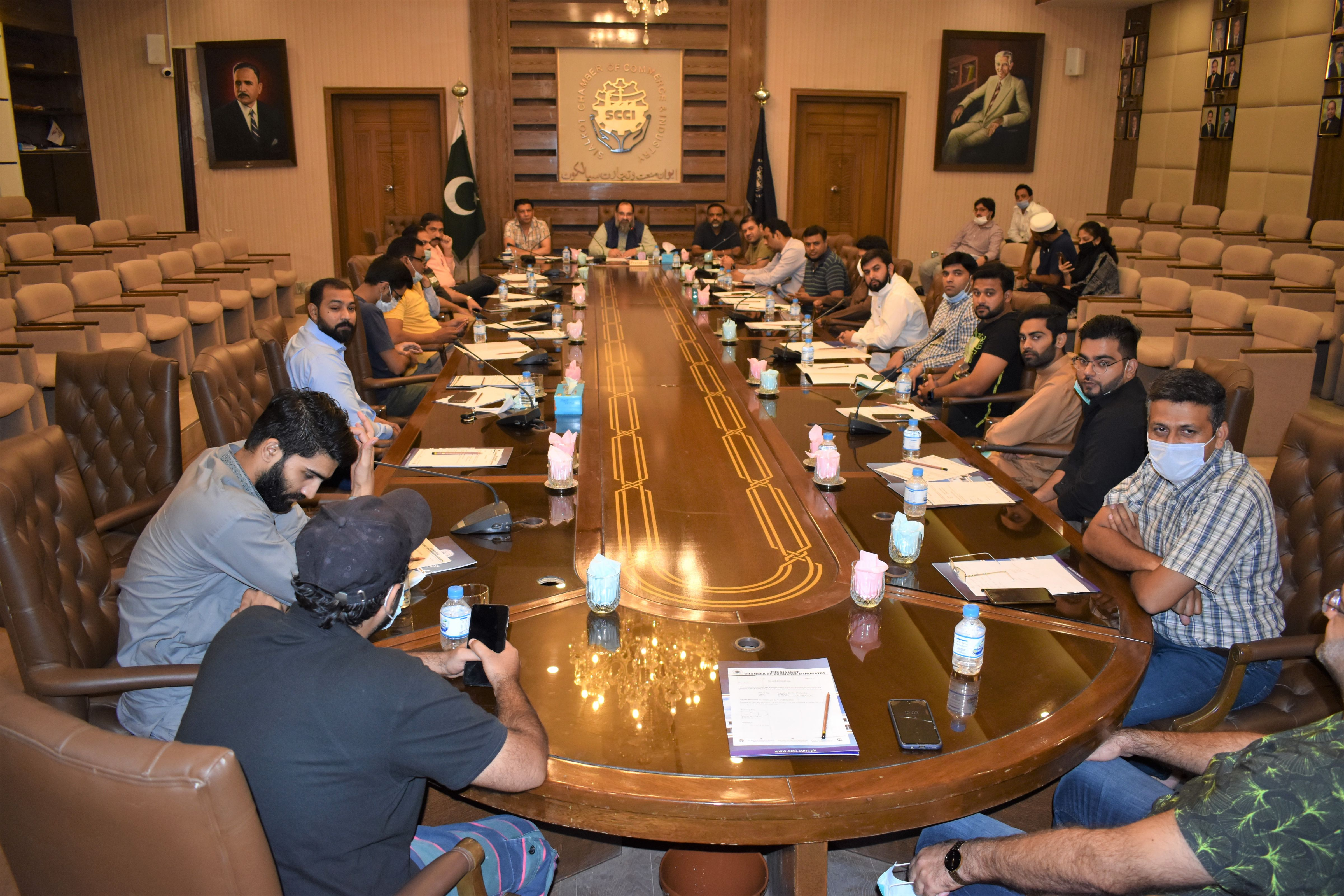 """On September 01, 2021, Mr. Khuram Aslam, Senior Vice President, Sialkot Chamber of Commerce & Industry chaired a meeting on """"SCCI Trade Delegation to Ukraine 2021"""" to have discussion on Execution of the Trade Delegation."""