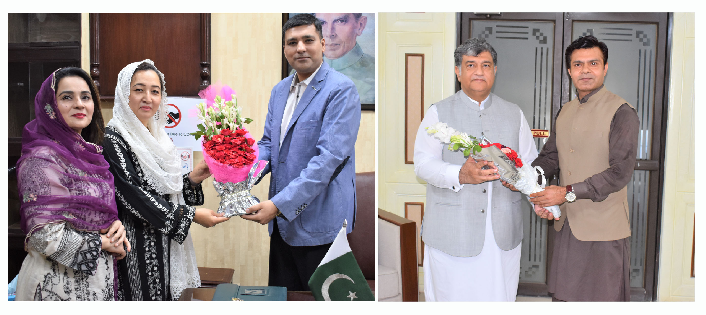 Mr. Tahir Mahmood, Director TEVTA, Dr. Maryam Nauman, President, WCCIS  extended heartiest felicitations to President, Senior Vice President, and Vice President, Sialkot Chamber of Commerce & Industry for assuming the charge as Office Bearers of SCCI.